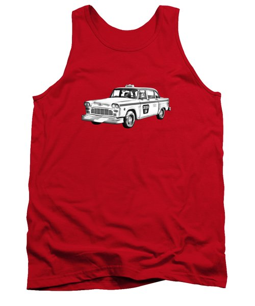 Checkered Taxi Cab Illustrastion Tank Top
