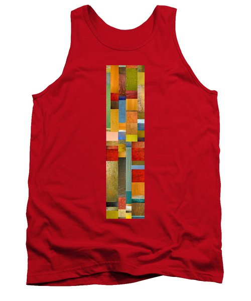 Color Panels With Green Grass Tank Top