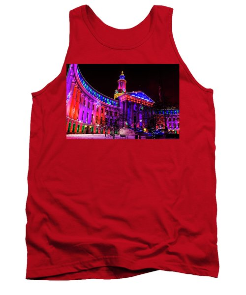 Denver City And County Building Holiday Lights Tank Top