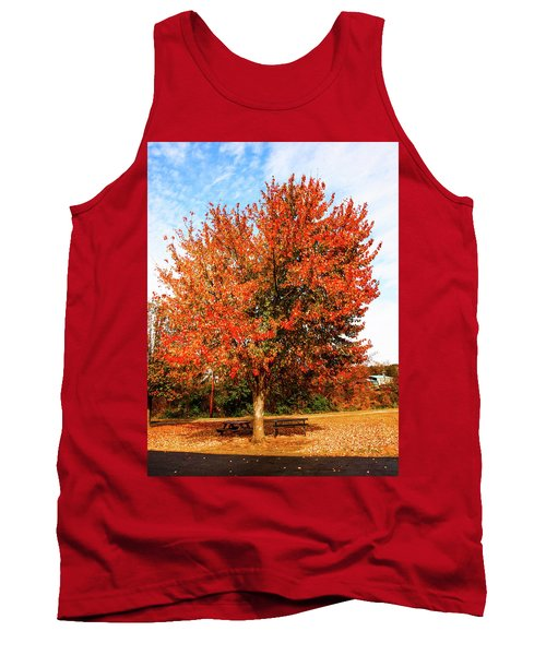Tank Top featuring the photograph Fall Time by Randy Sylvia