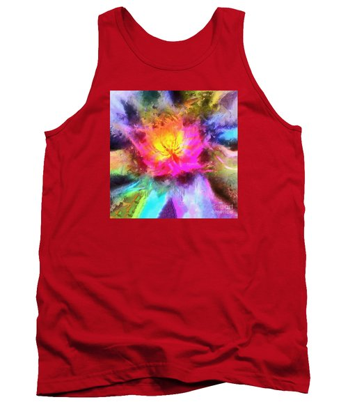Tank Top featuring the photograph Floral Mandala 01 by Jack Torcello