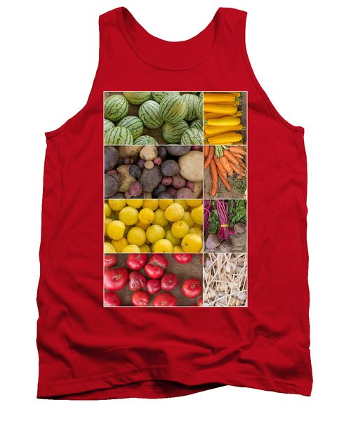 Fruit And Vegetable Collage Tank Top
