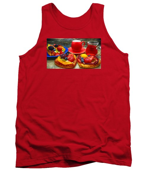 Fruit Desserts And Cup Of Coffee Tank Top