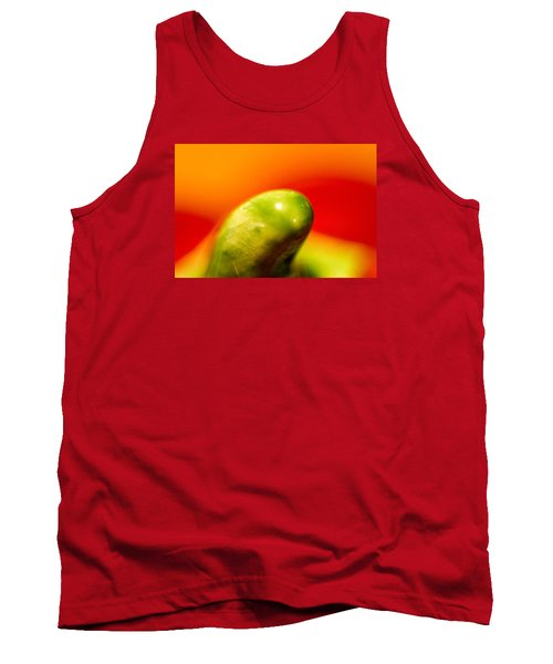 Green Red Liquid Clay Tank Top