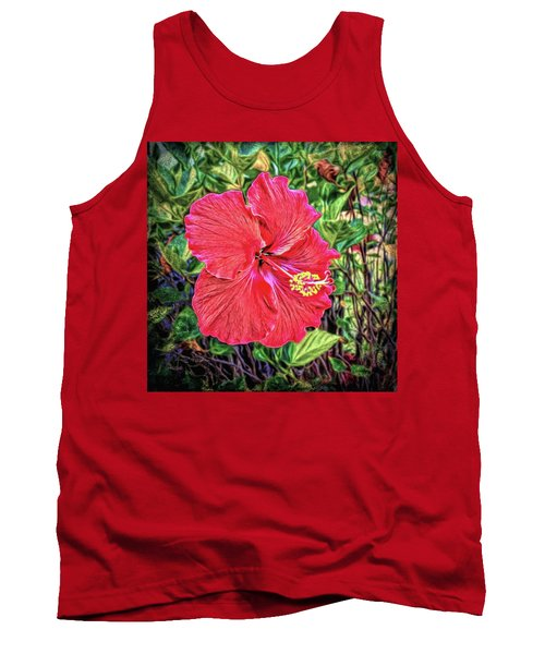 Tank Top featuring the photograph Hibiscus Flower by Lewis Mann
