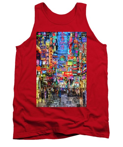 Hong Kong City Nightlife Tank Top
