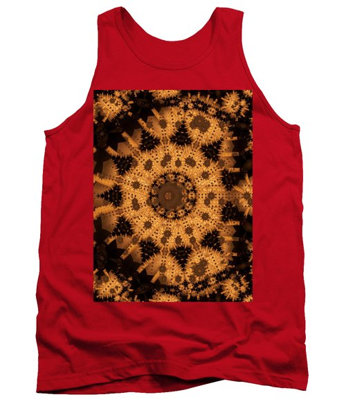 Tank Top featuring the digital art Interaction by Ron Bissett