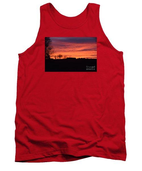 Tank Top featuring the photograph Kansas Sunset by Mark McReynolds