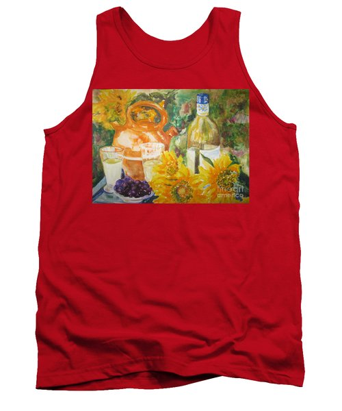 Lunch In Provence Tank Top by Lisa Boyd
