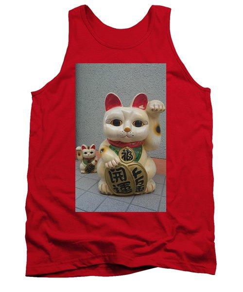 A Figure Of A Beckoning Cat, Called 'manekineko' Tank Top