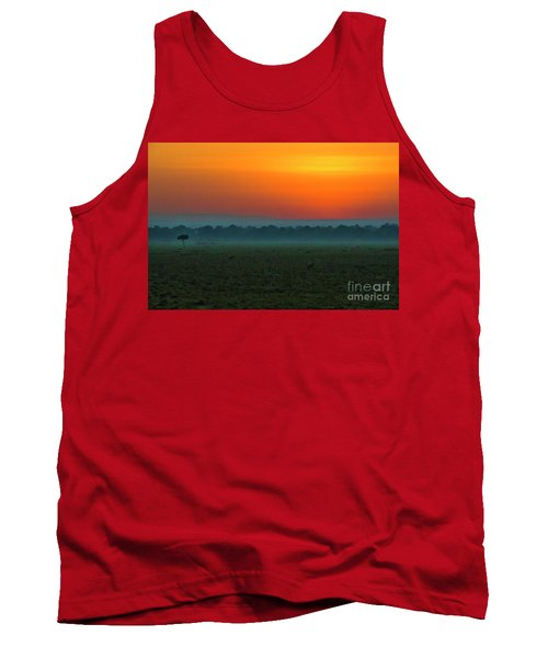 Tank Top featuring the photograph Masai Mara Sunrise by Karen Lewis