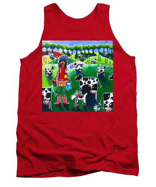 Moo Cow Farm Tank Top by Jackie Carpenter