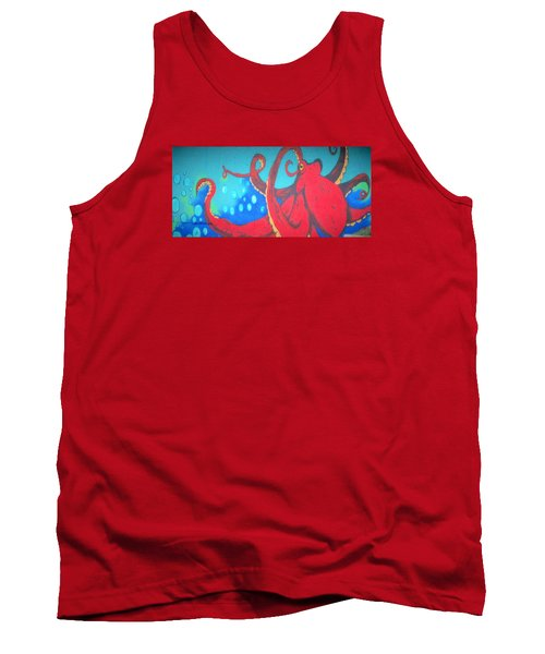 Octopus Tank Top by Martin Cline