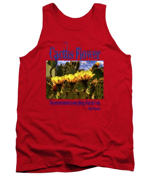 Prickly Pear Cactus Flowers Tank Top by Roger Passman