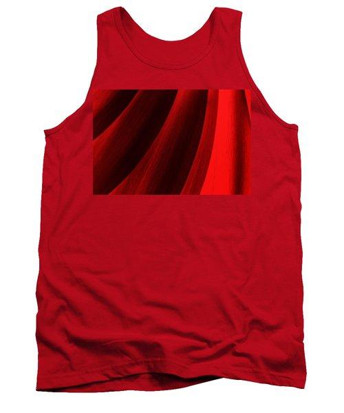 Red Chrysanthemum Dawn Rising Tank Top