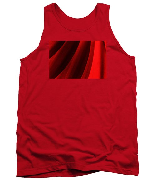 Red Chrysanthemum Dawn Rising Tank Top