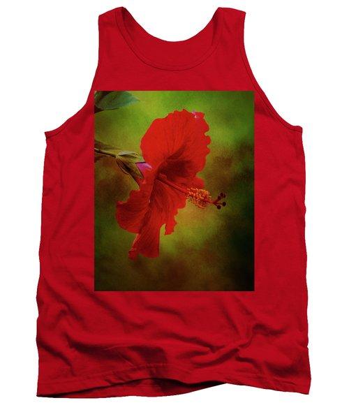 Red Hibiscus Art Tank Top