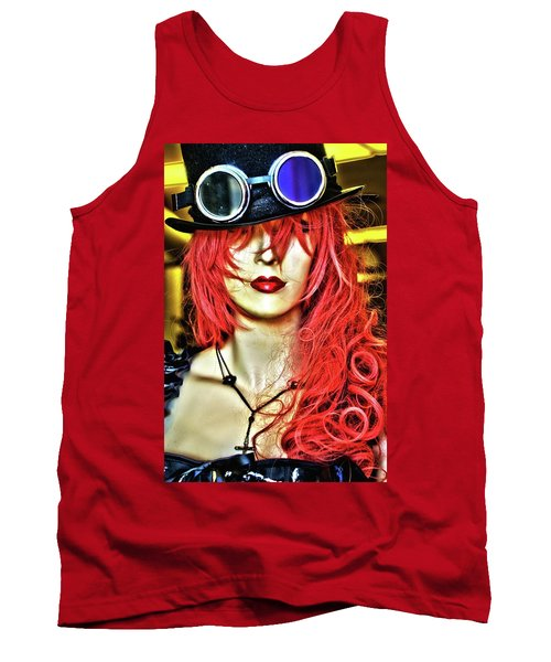 Red Tank Top by Newel Hunter