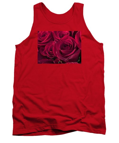 Tank Top featuring the photograph Red Red Roses by Kay Gilley