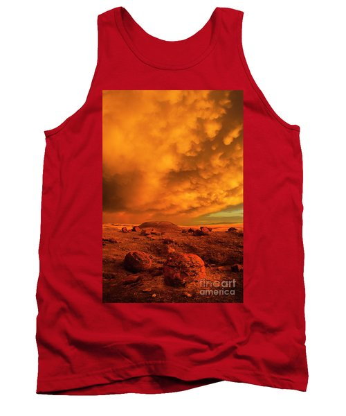 Red Rock Coulee Sunset 2 Tank Top
