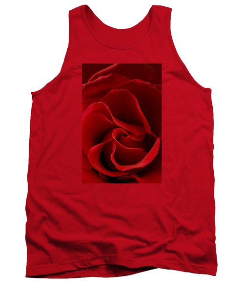 Red Rose Vi Tank Top by George Robinson