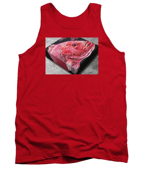 Red Snapper Tank Top by William Love