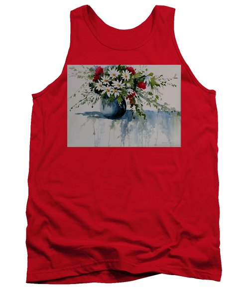 Red White And Blue Bouquet Tank Top
