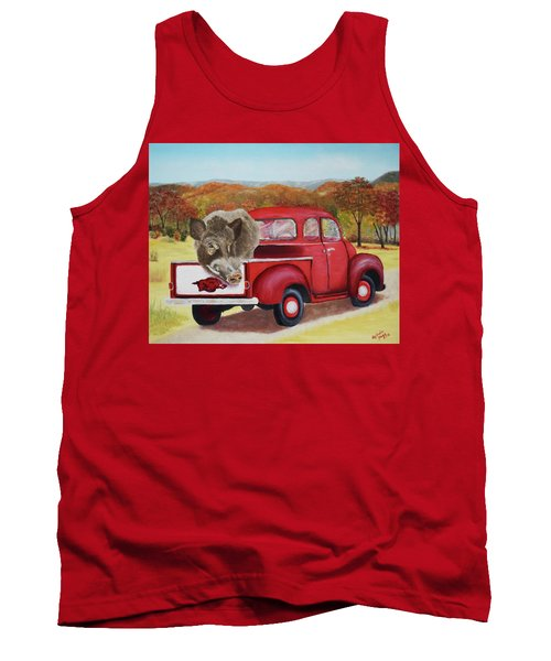 Ridin' With Razorbacks 2 Tank Top by Belinda Nagy