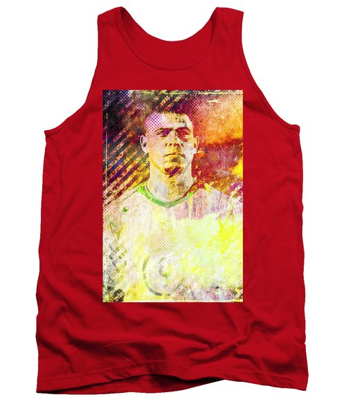 Tank Top featuring the mixed media Ronaldo by Svelby Art