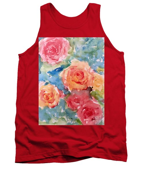Roses Tank Top by Trilby Cole