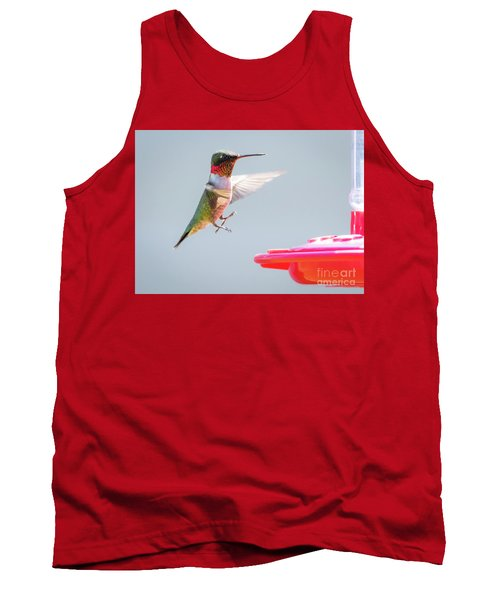 Tank Top featuring the photograph Ruby-throated Hummingbird  by Ricky L Jones