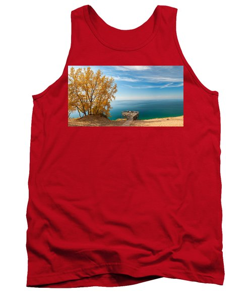 Tank Top featuring the photograph Sleeping Bear Overlook by Larry Carr