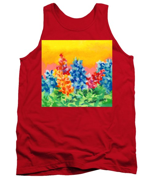 Tank Top featuring the painting Spring Wildflowers by Stephen Anderson