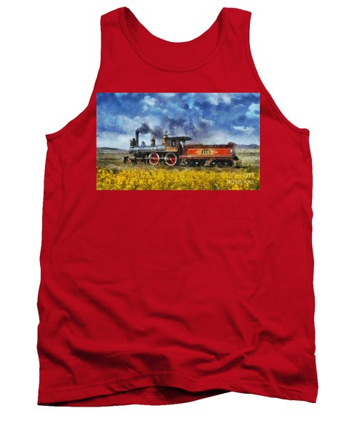 Tank Top featuring the photograph Steam Locomotive by Ian Mitchell