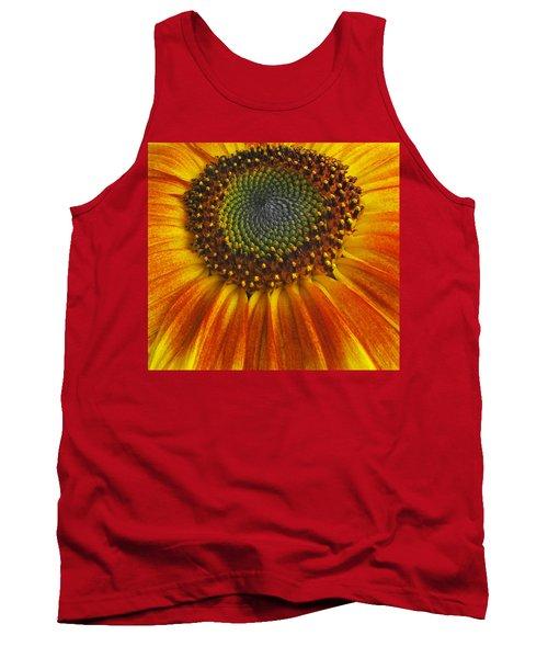 Sunflower Center Tank Top by Elvira Butler