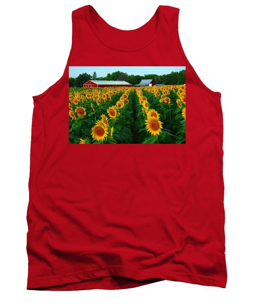 Sunflower Field #4 Tank Top