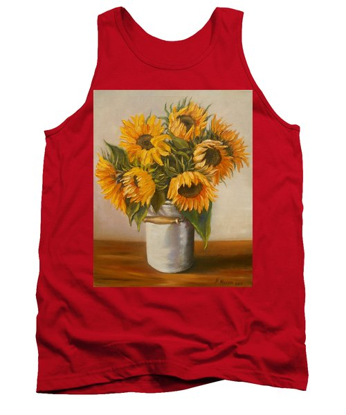 Sunflowers Tank Top by Nina Mitkova