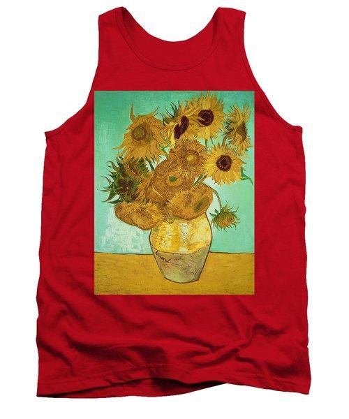 Sunflowers By Van Gogh Tank Top