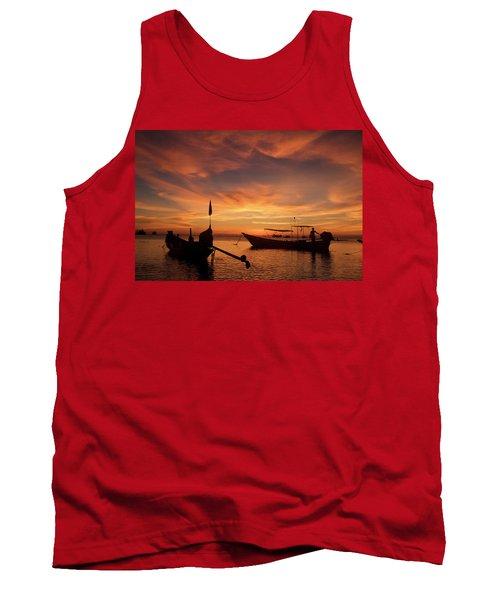 Sunrise On Koh Tao Island In Thailand Tank Top