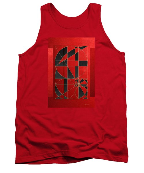 The Alchemy - Divine Proportions - Black On Red Tank Top