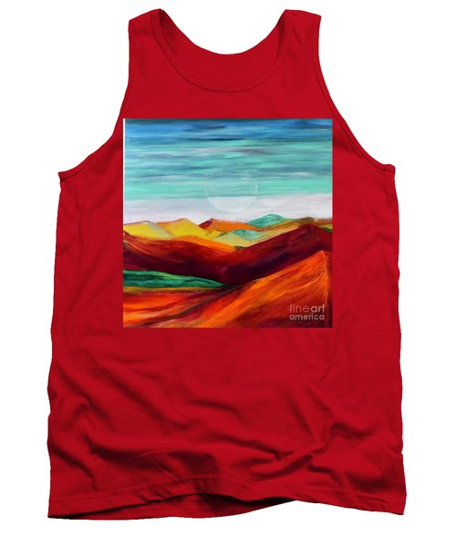 Tank Top featuring the painting The Hills Are Alive by Kim Nelson