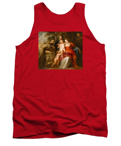 Tank Top featuring the painting The Holy Family With Saints Francis And Anne And The Infant Saint John The Baptist by Peter Paul Rubens