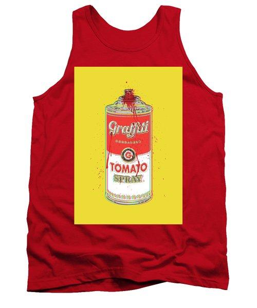 Tomato Spray Can Tank Top by Gary Grayson
