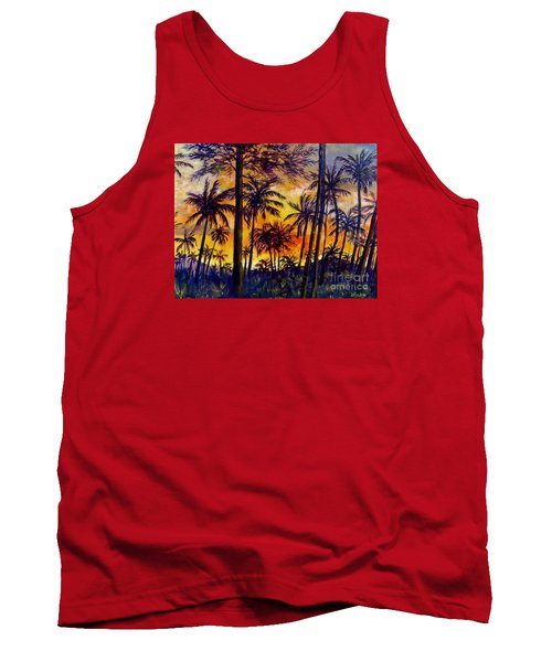 Tropical Sunset Tank Top by Lou Ann Bagnall