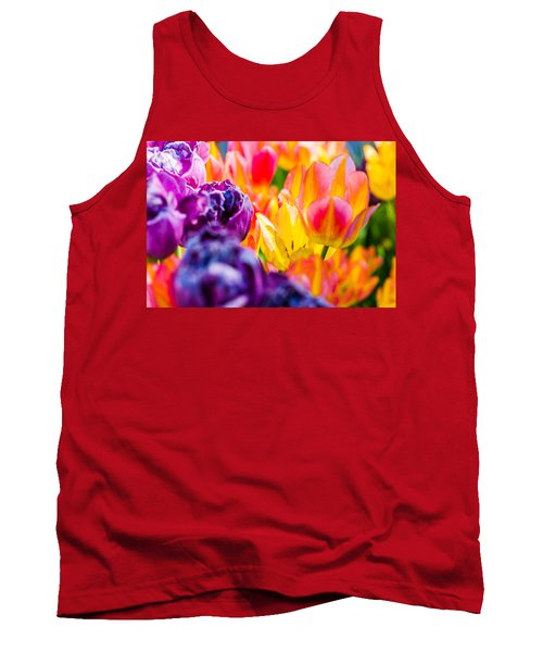 Tank Top featuring the photograph Tulips Enchanting 39 by Alexander Senin
