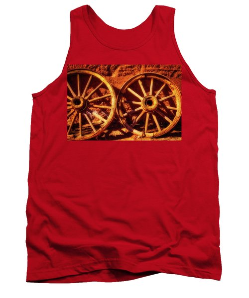 Two Old Wagon Wheels Tank Top