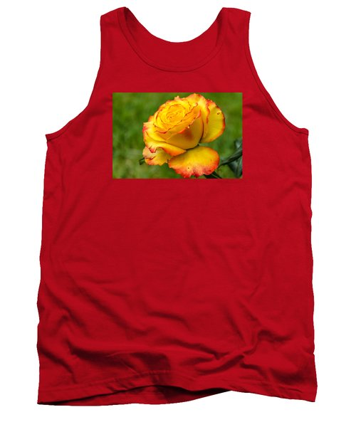 Two Toned Rose  Tank Top