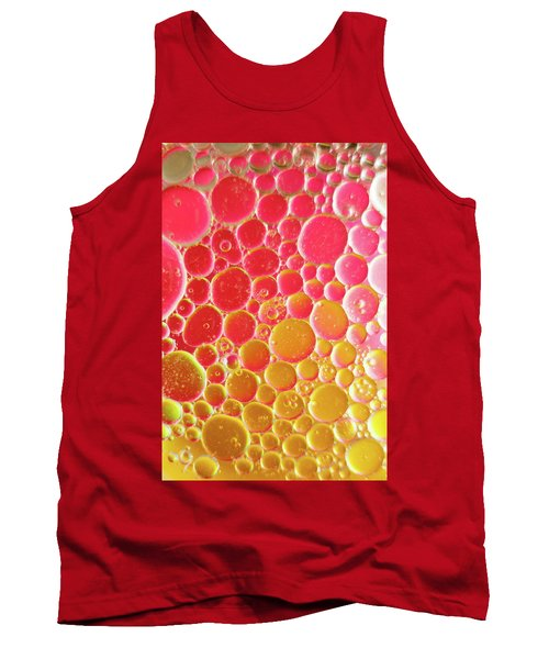 Water And Oil Bubbles Tank Top