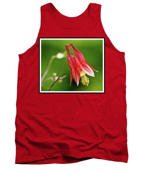 Wild Columbine Flower Tank Top by A Gurmankin