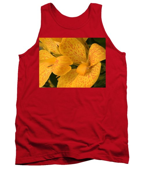 Yellow Lily Tank Top by Kay Gilley